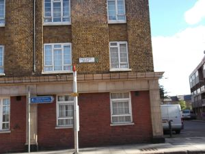 valance road in white chapple near bethnall green where the krays onced lived in the 1950s and early 1960s