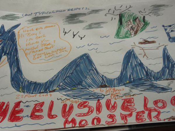 and heres nessy the lock ness monster thats a typicall man that one saw in my crystall ball