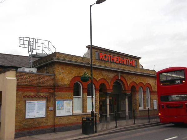 and this is the local rotherhithe station in se16