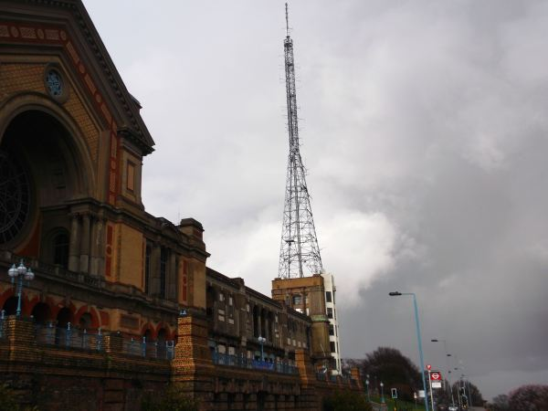 and heres the star of the show the palace featchering the bbc mast