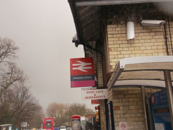 and this is the local railway station at alexandra palace