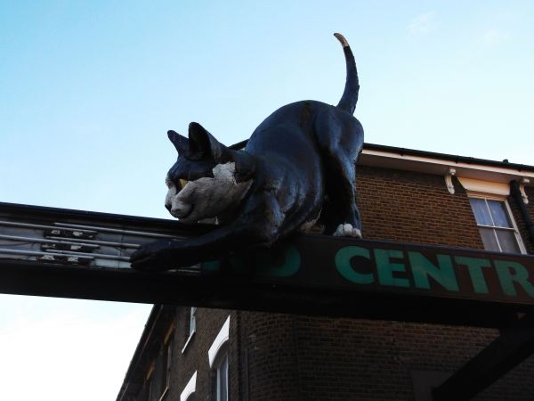 and heres the main pussy at the enterance to the catford shopping center