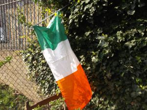 the try colour Irelands flag it annoys me that some people don't know what the flags of the great country are in Ireland and now you do