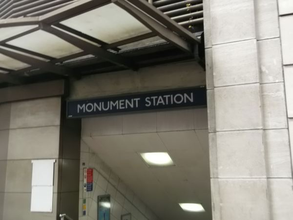 and as i look at monument station in centrall london in the start of the 40 closing chapters of the blog as in june friday the 13th the story will be told