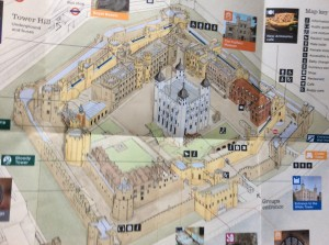 As you can see on the map there's no mention of the prison where guy was kept in 1605