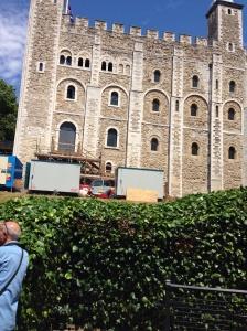 The white tower where in 1605 in little ease where gudio Fawkes was kept prisoner